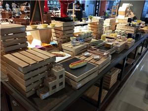 餐台木质摆件